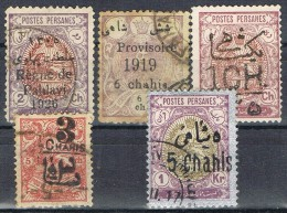 Lote 5 Sellos PERSIA, Num 214 - 359 - 387 Y Otros º - Iran