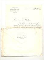 Lettre adress�e au docteur F. Amand, m�decin agr�e des Charbonnages Unis de l'Ouest de MONS- Boussu (sf87)