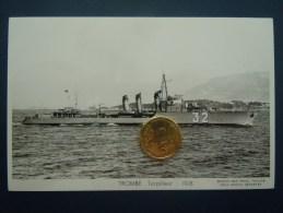 Bateaux Marine Militaire , Navire De Guerre , Marius Bar Phot. , Torpilleur  TROMBE  1928 - Guerre