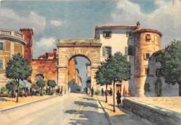 """0265 """"CHIANCIANO (SIENA) PORTA D�INGRASSO AL PAESE"""" ANIMATA, CARRETTO CARTOLINA  POSTALE.  SPEDITA 1920"""