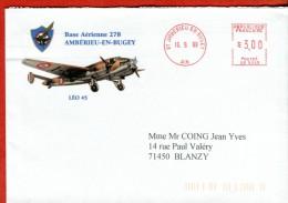 01-AIN-Amb�rieu-en Bugey  Base A�rienne 278 Avion LEO 45  Machine � affranchir SV 9045-1998