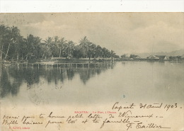 Raiatea Le Fort A Uturoa Edit Hanni Stamps Ets De L' Oceanie 1903 - French Polynesia