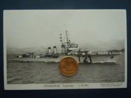 Bateaux Marine Militaire , Navire De Guerre , Marius Bar Phot. , Torpilleur  FOUGUEUX    11-3-1941 - Guerre