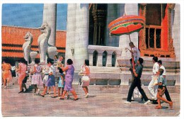 Bangkok, Marble Temple, Procession, 3.5.1966, Stamps - Thaïland