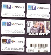 6 Parking Used Cards Lebanon,  Liban - Lebanon