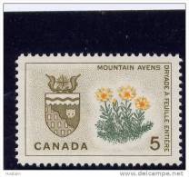 CANADA 1964. # 429i,  PROVINCIAL FLOWERS & COATS Of ARMS, NORTWEST TERRITORIES  MNH - 1952-.... Règne D'Elizabeth II