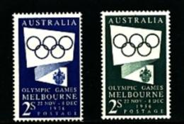 AUSTRALIA - 1954  OLYMPIC GAMES   SET  MINT NH - 1952-65 Elizabeth II : Ed. Pré-décimales