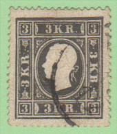 AUT SC #7b  1858 Franz Josef, Gray Black Var., CV $600.00 - Used Stamps
