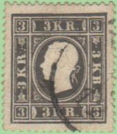 AUT SC #7b  1858 Franz Josef, Gray Black Var., CV $600.00 - 1850-1918 Imperio