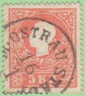 AUT SC #9a  1858 Emp. Franz Josef, CV $20.00 - Used Stamps