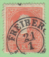 "AUT SC #9a  1858 Emp. Franz Josef  ""FREIBER_1-21"", CV $20.00 - 1850-1918 Empire"