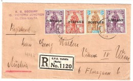 Malta, 1931, Reco-Brief Nach Wien , S192 - Malta