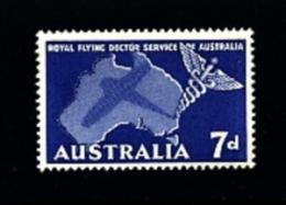 AUSTRALIA - 1957  FLYING DOCTOR  SERVICE  MINT NH - 1952-65 Elizabeth II: IEmissione Prima Decimali