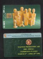 MALTA - MALTESE PREHISTORIC ART PHONECARD 1996 - USED IN PERFECT CONDITION - Malta