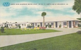 5404- BRUNSWICK- NORTH WING SEABREEZE MOTOR COURT, CAR, POSTCARD - Etats-Unis