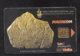 MALTA - NEOLITHIA ARTS FESTIVAL 2001  PHONECARD  - USED IN PERFECT CONDITION - Malta