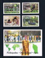 Dominica 1985 Jugend Mi.Nr. 919/22 Kpl. Satz + Block 100 **
