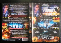 DVD Video : 3 Films : LE 7EME SENS Premonition + MOON 44 + THE SURVIVOR Avec VAN DIEN + PARE + POWELL - Sci-Fi, Fantasy