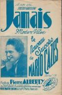 Jamais / Modern Valse/ Mario Cazes/ Alberty / Vers 1930    PART58 - Partitions Musicales Anciennes