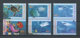 AUSTRALIE 1995 N° 1466/1471 ** Neufs = MNH Superbes Cote 6 € Faune Marine Tortues Poissons Mérou Bateaux Fishes Turtles - Nuovi
