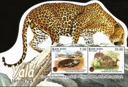 RO)2013 SRI LANKA, LEOPARD-PANTHERA, TURTLE, DEER, ODD SHAPE SOUVENIR MNH - Sri Lanka (Ceylon) (1948-...)