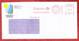 Infopost, Francotyp-Postalia B66-3848, Degussa Metall Chemie Pharma, 38 Pfg, Frankfurt 1990 (61122) - [7] République Fédérale