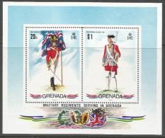Grenada. 1971 Military Uniforms.  MNH Miniature Sheet. SG MS468 - Grenada (...-1974)
