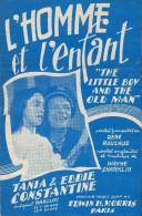 L'Homme Et L'Enfant Rouzaud/ Wayne /Shanklin/tania Et Eddie Constantine//  1953   PART60 - Partitions Musicales Anciennes