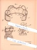 Original Patent - Sophie Meyer In New-York , 1906 , Rücken- Und Büstenhalter , BH , Korsett , Corset !!! - Leibwäsche