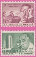 Belgium**ART DECO-ART NOUVEAU-BAUHAUS-2vals-1963-Architect Van De Velde-Destrée - Belgium
