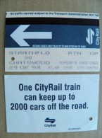 City Rail Ticket From Australia (?) - Chemins De Fer
