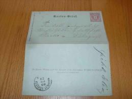 Austria Österreich Budapest Magyarország Hungary Karten-Brief 1889 - 1850-1918 Empire