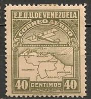 Timbres - Amérique - Venezuela - Aereo - 1938 - 40 Centimos - - Venezuela