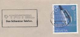 1991 COVER SWITZERLAND SLOGAN Pmk TRITEL TELEPHONE  Telecom Stamps Europa - Telecom