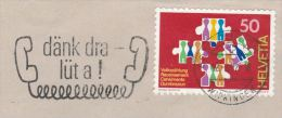 1992 COVER SWITZERLAND SLOGAN Pmk Illus TELEPHONE Telecom Stamps - Telecom