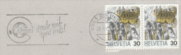 1994 COVER Dietikon SWITZERLAND SLOGAN Pmk SAVE ENERGY Horse Carriage Stamps Horses - Sciences