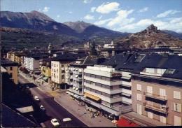 Sion - L'avenue De La Gare Et L'eglise De Valere - 23 - Formato Grande Viaggiata Mancante Di Affrancatura - VS Valais