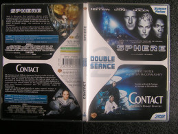DVD Video : 2 Films SPHERE Et CONTACT De Barry LEVINSON Et Robert ZEMECKIS Science-fiction - Sci-Fi, Fantasy
