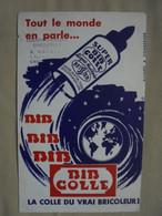 """Ancien Buvard Publicitaire """"BIB COLLE"""" La Vrai Colle Du Bricoleur - C"""