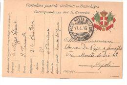 CARTOLINA POSTALE IN FRANCHIGIA - UFFICIO POSTA MILITARE 10 DIVISIONE - 1916 - War 1914-18