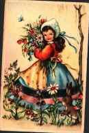 Enfant Illustré 146 - Fillette Lapin - Künstlerkarten