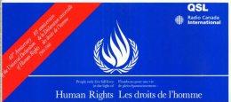 QSL RADIO CANADA INTERNATIONAL HUMAN RIGHTS - Radio