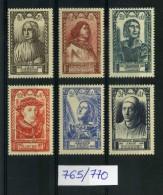 N° 765 A 770 NEUF ** Célébrités Du XVeme Siécle - France