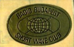 RADIO BUDAPEST SHORT WAVE CLUB ADESIVO - Radio & TSF