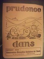 """Ancien Buvard Publicitaire """" Assurances Mutuelles Scolaires De L´´Aude"""" Carcassonne - Banque & Assurance"""
