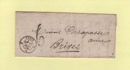 Paris - H - 22 Mars 1859 - Taxe Tampon 6 Locale - 1849-1876: Classic Period