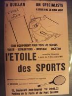 """Ancien Buvard Publicitaire """" L'ETOILE DES SPORTS"""" Tout équipement Pour Les Skieurs...à Quillan - Sports"""