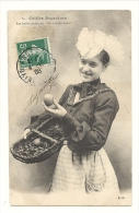Cp, Folklore, Coiffes Angevines, Les Belles Pommes, En Voulez Vous, Voyagée 1908 - Costumes