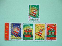 France 1998 Scott 2681/5 = 3.75 $ - Christmas Ski Santa Claus - Frankreich