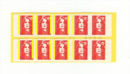 Carnet Briat YT 2874-C4 Sans Phosphore Tenant à Bande à Gauche Tenant à Normal . Voir Le Scan  . Maury N° 508e : 120 € . - Carnets